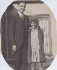 Dorothy, 8, with her adoptive father, Paul Clifford Hill