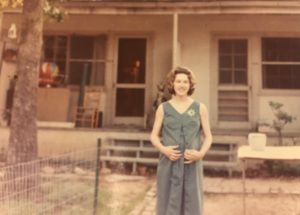 Donna was eight months pregnant with our twins when I graduated in May 1966, The front door of our apartment is on the left.