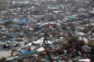Destruction in Japan.