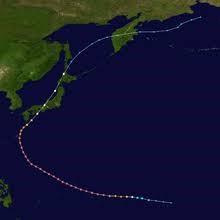 The path of Typhoon Nancy.