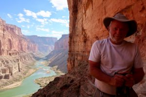 That's me, at the Indian granaries on the Colorado River.