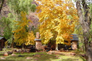 Phantom Ranch in the Fall.