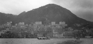 Hong Kong, from the harbor . This photo was made by Tony Fleming in 1960.